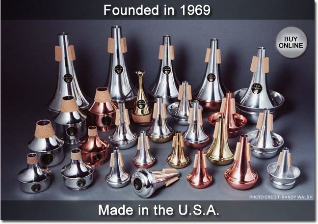 Tom Crown Mutes was founded in 1969 and are crafted in the USA.